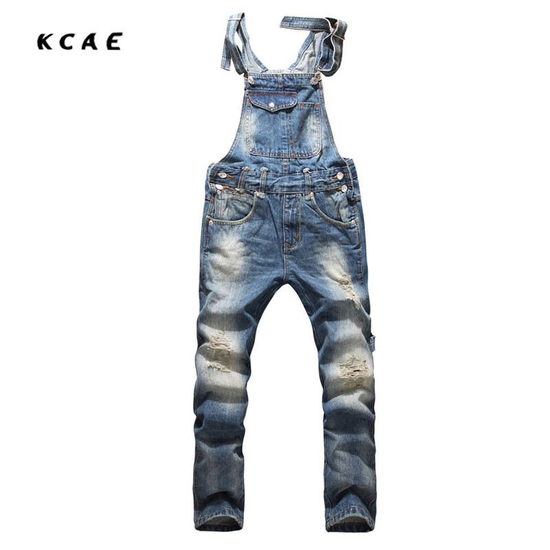 2017 Men's Fashion Hole Suspenders Jeans Paint Denim Bib Pants Korean Style Slim Overalls For Men Cargo Pants Jumpsuits 2016 brand mens denim overalls fashion bib jeans skinny overalls for men hole slim black and white suspender pants m xxl