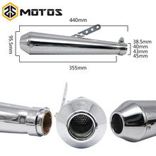Motorcycle motorbike muffler antiqued vintage fashion Electroplating and paint exhaust piper for Harley Davidson