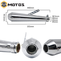 ZS MOTOS Motorcycle motorbike muffler antiqued vintage fashion Electroplating & paint exhaust piper for Harley Davidson exhaust