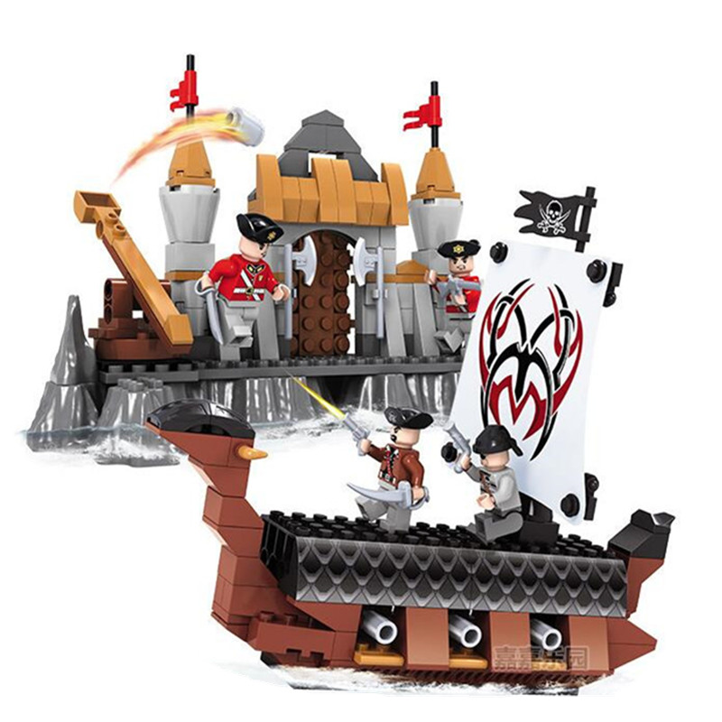 Lepin Queen Anne's Revenge 263Pcs Mini Bricks Set Sale Pirates of the Caribbean Blackbeard Building Blocks Toys For Kids XD19 lepin 16006 804pcs pirates of the caribbean black pearl building blocks bricks set the figures compatible with lifee toys gift