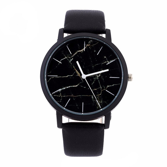 Unisex Simple Watches for Women/men Top Brand Luxury PU Leather Quartz Watch Gif