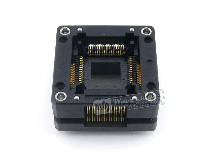 module QFP64 TQFP64 LQFP64 PQFP64 Enplas OTQ-64-0.8-01 QFP IC Test Burn-In Socket 0.8mm Pitch Free Shipping tms320f28335 tms320f28335ptpq lqfp 176
