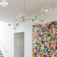 Clear/Smoke Glass Vintage Pendant Lamp Fixtures Retro Loft Art Industrial Decoration Pendant Lights for Living room Black Gold
