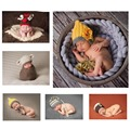 Newborn Photography Props Knitted Crochet Baby Hat Caps Sweet Animal design Adorable Deer and Sheep style Baby Beanies GM077