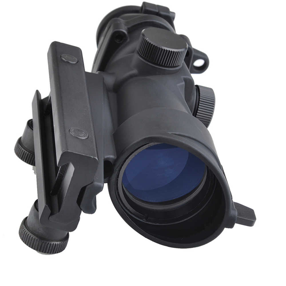 منظار بندقية بصري تكتيكي من تريجي أكو 4x32 بنقاط حمراء للصيد في الهواء الطلق وشبكاني أخضر أحمر مع حامل