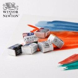 Winsor & newton cotman pintura aquarela 40 cores sólido metade pan