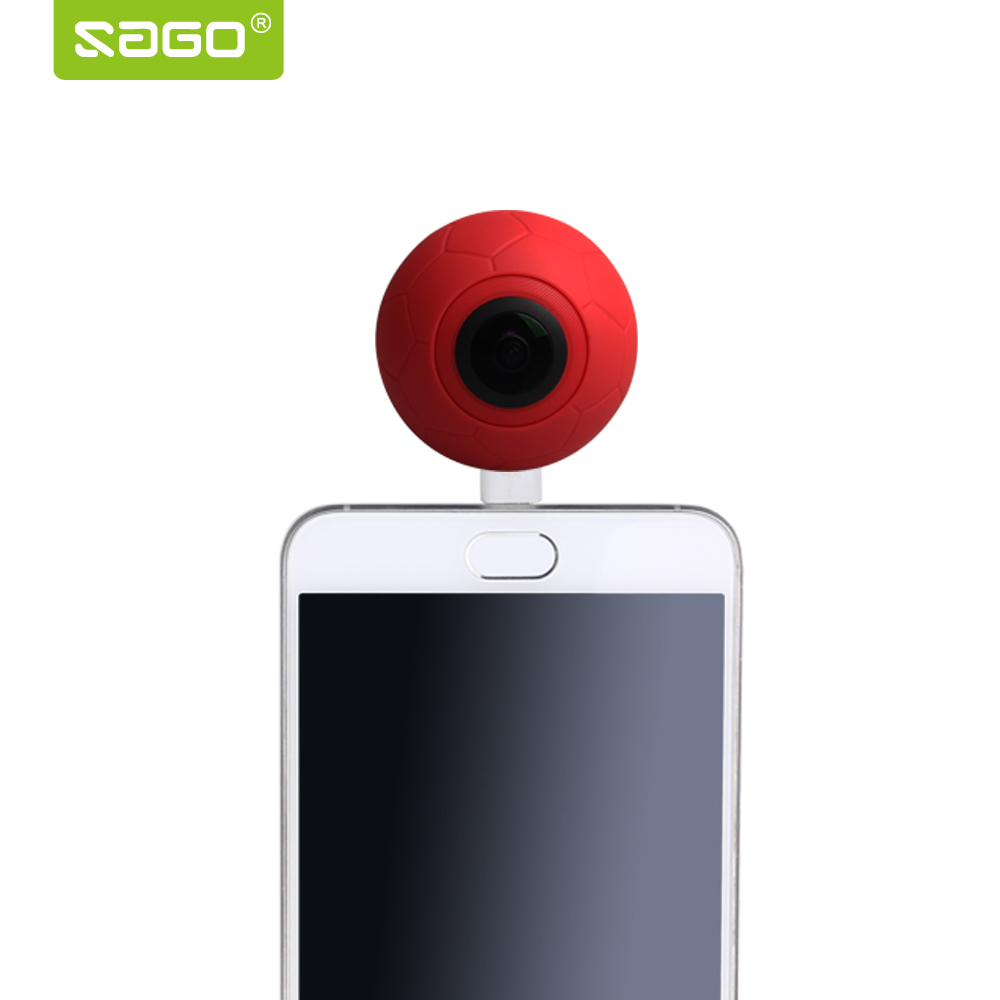 Sago 360 Panoramic Camera VR Camera 2048*1024 HD video Dual Wide Angle Lens 360 Camera for android smartphone youtube video 360 camera hd panoramic mini camera wide dual angle fish eye lens action camera 3040 1520 usb sport
