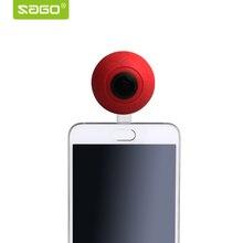 Саго 360 панорамный Камера VR Камера 2048*1024 HD видео двойной Широкий формат объектив 360 Камера для Android-смартфон YouTube видео