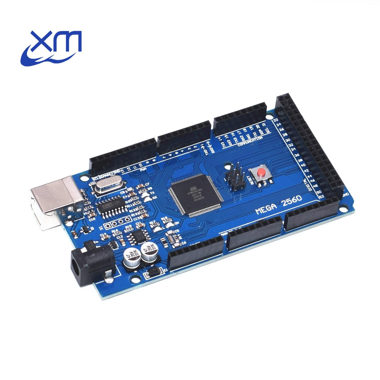 MEGA 2560 R3 MEGA2560 (ATmega2560-16AU CH340G) placa USB AVR (lan) Para Arduino
