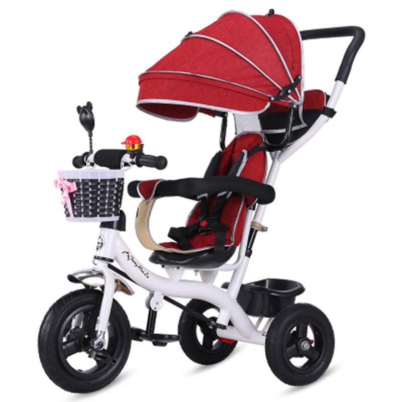 7a94f2ca02b Portable Toddle Child Tricycle Bike Baby Trolley Umbrella Stroller  Pushchair Pram Buggy Three Wheels Bicycle Trike Brand Quality-in Three  Wheels Stroller ...