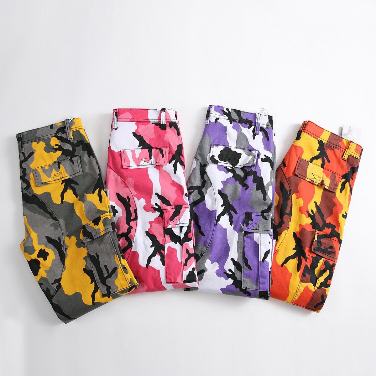 Couple Orange Camouflage Pantalons Vêtements Hop Hommes 933 Rose Qualité Survêtement 936 Joggeurs Cargo 934 Pantalon Hip Camo Haute 935 2018 De Streetwear Femmes 6Sw6qr