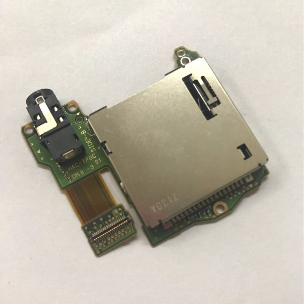 MASiKEN Original Replacement Game Card Slot Socket Board for NS NX Nintendo Switch Console wHeadphones Port Game Accessories