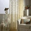 Современные роскошные тюлевые декоративные занавески  драпировка с кисточками для шторы на окна для гостиной  прозрачные желтые шторы  гот...