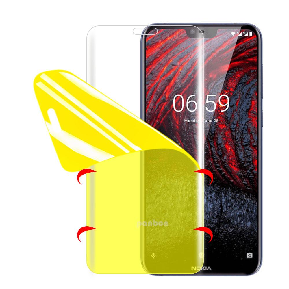 7D Full Hydrogel Protective Film for <font><b>Nokia</b></font> <font><b>2.1</b></font> 3 3.1 5.1 Plus X5 6 6.1 Plus X6 7 Plus 7.1 X7 8 Siriocco 8.1 9 <font><b>Screen</b></font> <font><b>Protector</b></font> image