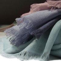neutral color silk cashmere women's fashion big scarf shawl pashmina 65x190cm