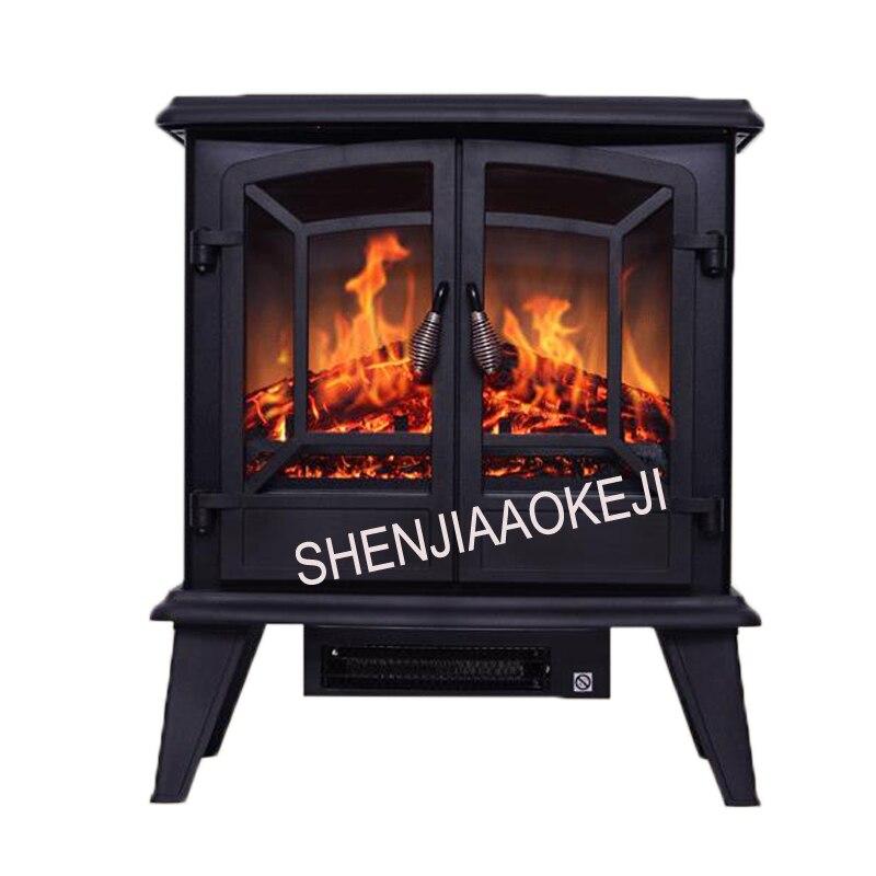 Chauffage de cheminée électrique économie d'énergie 3D simulation flamme foyer électrique noyau Mobile petit foyer 120 V/220 V 40 W 1 PC