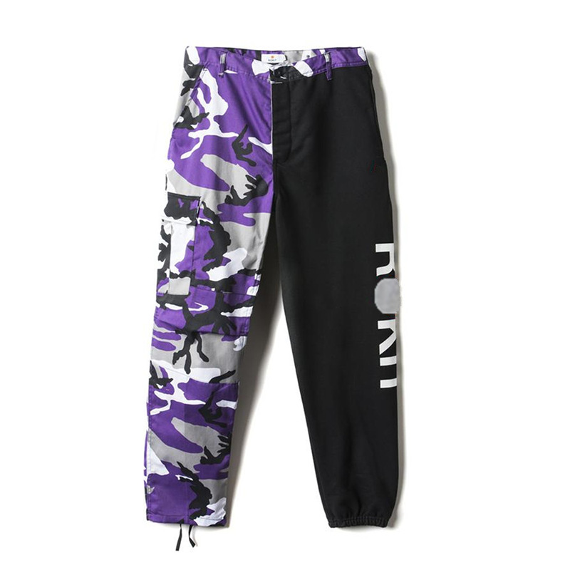 Trousers Streetwear Pants Stitching Leisure Camouflage High-Quality Beam New Hip-Hop