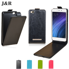 Xiaomi Redmi 4A Case Redmi 4A Flip Cover 5.0 inch J&R Vertical Phone Bags PU Leather Case for Xiaomi Redmi 4A