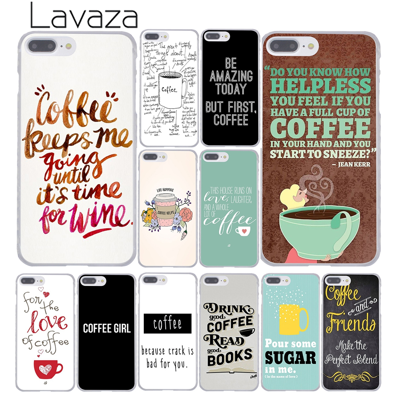 Lavaza Coffee Wine Brown Magenta Ombr Hard Cover Case for Apple iPhone 8 7 6 6S Plus 5 5S SE 5C 4 4S X 10 Coque Shell