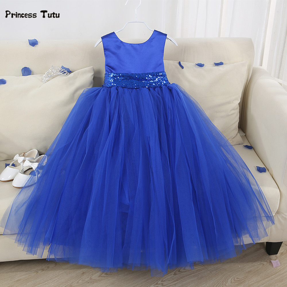 7 Colors Princess Flower Girl Dresses Sequins Belt First Communion Dresses For Girls Kids Party Pageant Ball Gown Dress Custom lovely pink ball gown short flower girl dresses 2018 beaded pearls first communion dresses for girls pageant dress