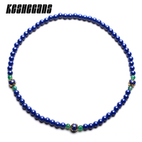 2018 New Exquisite Blue Ceramic Beads Necklace Vintage Noble Necklace For Woman Brightly Handmade Never Fade Fashion Jewelry