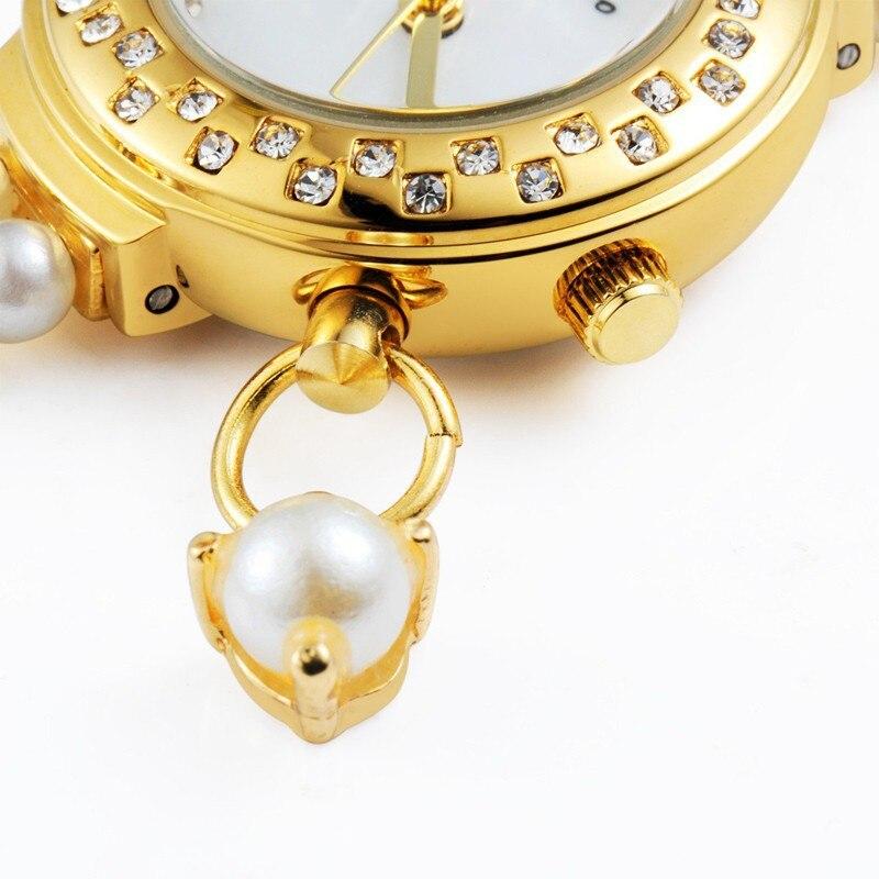 Korea Luxury Brand Butterfly Pearls Bracelet Wristwatch