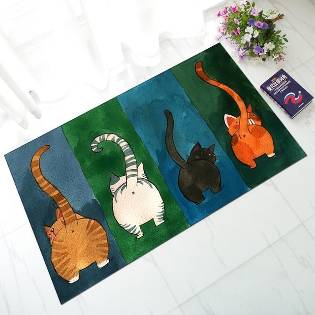 Anti Slip Surrender Cute Butt Cat Anti Slip Rubber Kitchen Mats Floor Funny  Door Mats Outdoor