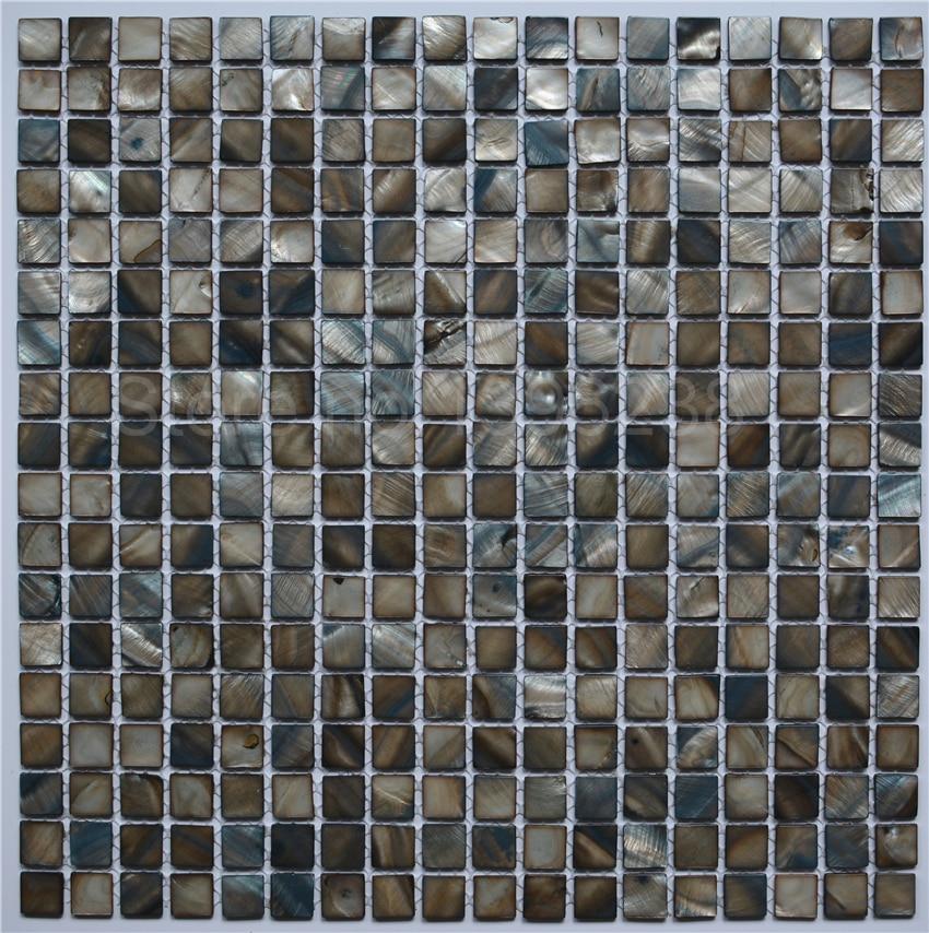 BIG SALE!10mm black grey mesh-joint sea shell mosaic for kitchen backsplash bathroom wall floor decor,FREE SHIPPING,LSBK1003 aquapulse 4122b grey black