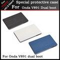 "Para Onda v891 dual boot caso 8.9 ""Tablet pc, Ultra-fino Silk Padrão PU Leather Flip Case Capa para Onda V891 Freeshipping + gift"