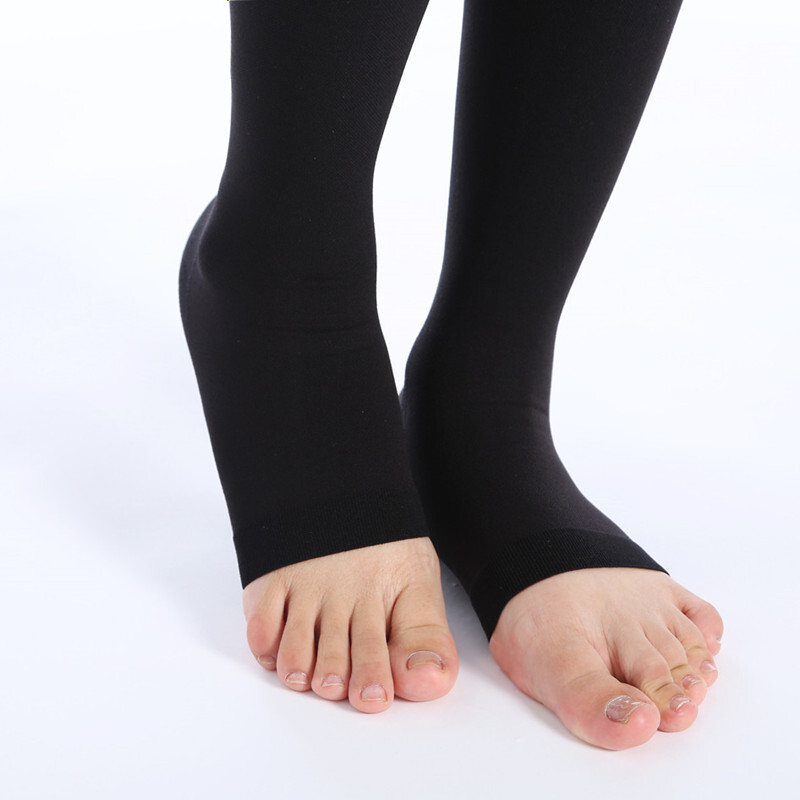 Image 2 - 23 32 mmHg Medical Compression Stockings Women's Men's Nurses Graduated Support Varicose Veins Flight Travel Pregnancy Open Toe-in Stockings from Underwear & Sleepwears on AliExpress