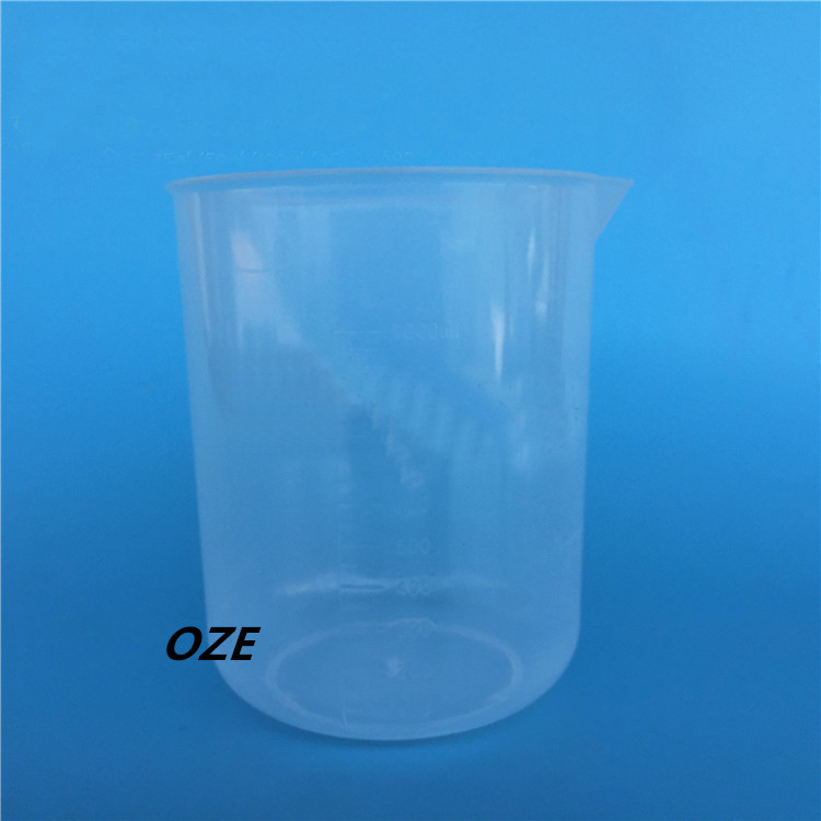1PCS Graduated Scale Clear White Plastic Beaker 1000ML Measuring Cup for Laboratory