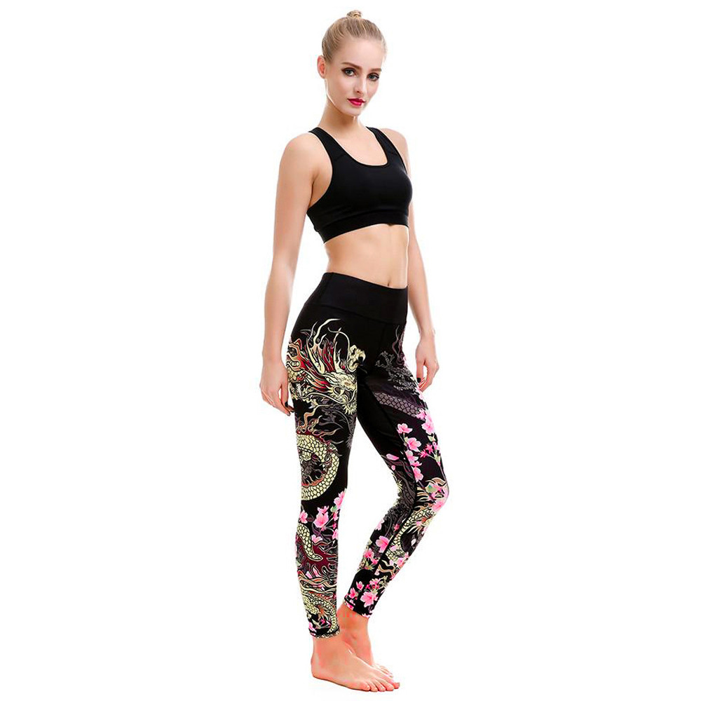 2e10fccad1de5 Detail Feedback Questions about Jessica's Store Women Print Sports Gym Yoga  Running Fitness Leggings Pants Athletic Trouser ST2235 on Aliexpress.com ...