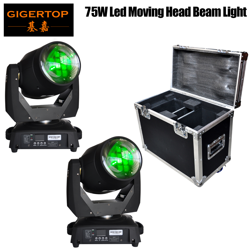 2IN1/4IN1 Flightcase Packing 2 Unit 75W Led Moving Head Beam Light Fixed Gobo Wheel / Color Wheel Good Quality CE ROHS Mark