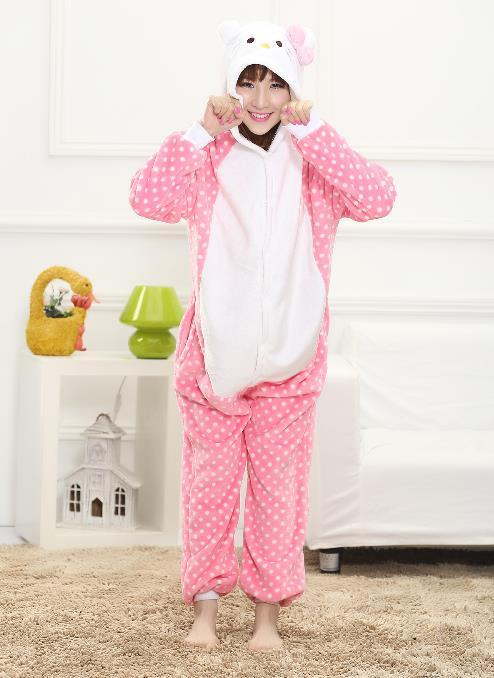 hello kitty costume fursuit costum jumpsuits Halloween christmas costumes for women Pooh Kigurumi Pajamas Animal Cosplay Out