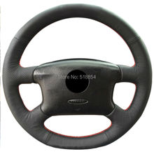 Black Artificial Leather Car Steering Wheel Cover for Volkswagen Passat B5 VW Passat B5 VW Golf 4