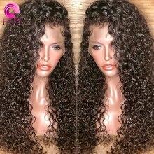 Парики из ЕВА с кудрявыми натуральными волосами на полной сетке, предварительно выщипанные Детские волосы, безклеевые передние парики на сетке для женщин, бразильские волосы без повреждений