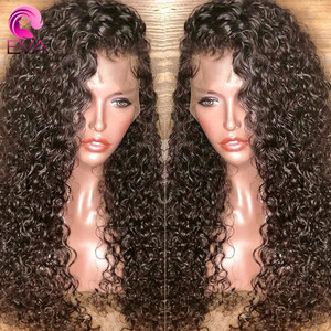 Image 1 - Eva Hair Curly Full Lace Human Hair Wigs Pre Plucked With Baby Hair Glueless Full Lace Front Wigs For Women Brazilian Remy Hair
