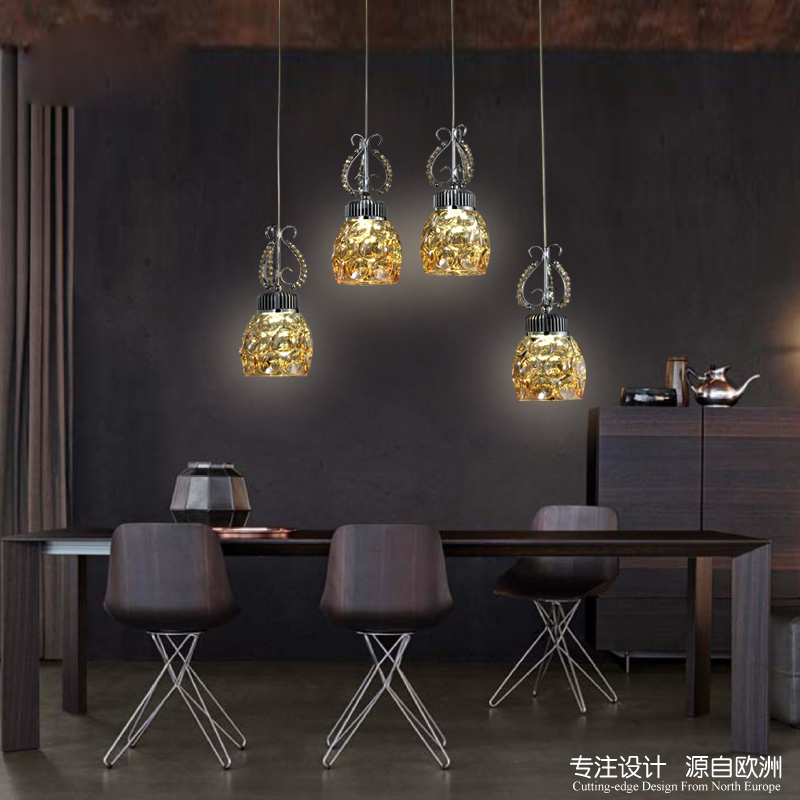 led restaurant dining chandeliers living room bedroom four hanging lines creative personality American luxury bar lighting lamps z post modern luxury villas led chandeliers creative silver gold living room dining room study of spherical personality lamps