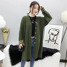 Women Long Cardigan Sweater Long Sleeve Sweater Coat Spring Autumn 2019 Fashion Loose Women's Knitted Jacket