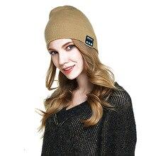 все цены на FDBRO Bluetooth Earphone Smart Headset Headphone Speaker Mic Winter Outdoor Sport Stereo Music Hat Knitted Smart Phone Hat онлайн
