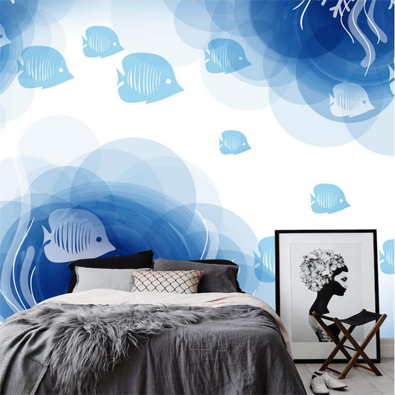 Custom Photo Wallpaper Hd Wall Murals Wall Paper 3d Hand Painted Underwater World Embossed Wall Art Ideas for Living Room Study shinehome black white cartoon car frames photo wallpaper 3d for kids room roll livingroom background murals rolls wall paper
