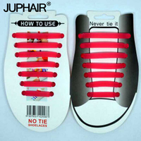 JUP1 12 Sets 14Root Set Luminous Red Shiny Lazy Shoelace Flat Fluorescent Laces Buckle Sports Shoelace