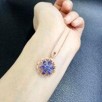Collares Collier Qi Xuan_Natural Blue модный кулон ожерелье с покрытием Розовое Золото Качество прямые ed_производитель прямые продажи