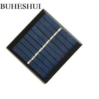 BUHESHUI 4.5V 0.6W Mini Solar Cell Polycrystalline Solar Panel Solar Power Battery Charger Education 65*65MM 1000pcs Wholesale