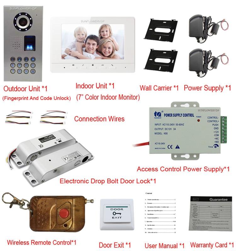Rfid Tastatur Video Intercom Fingerprint Home Video Tür Telefon IP65 ...