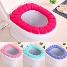 Comfortable Velvet Coral Toilet Seat Cover Standard Pumpkin Pattern Cushion Overcoat Case Bathroom WC Ring