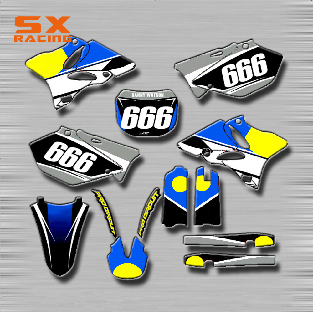 Motorcycle Decals Customize Pattern Custom Made Stickers Set For YAMAHA YZ 125 250 YZ125 YZ250 YZ250F YZF250 400 426 450 WR TTR graf design protective decal skin sticker for nintendo 3ds xl 2014