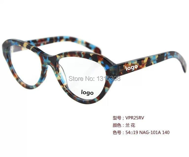6f294a3cd15 10pcs 2015 54mm oval colorful cat eye shape acetate Eyeglass Frames women  Glasses Retro Eyeglasses Full-Rim Optical RX 25rv