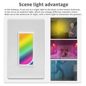 Image 3 - Wifi Wall RGB LED Scene Light Smart Light Switch 1200 Colors 2W RGB Scene Light Color Changing work with alexa google assistant