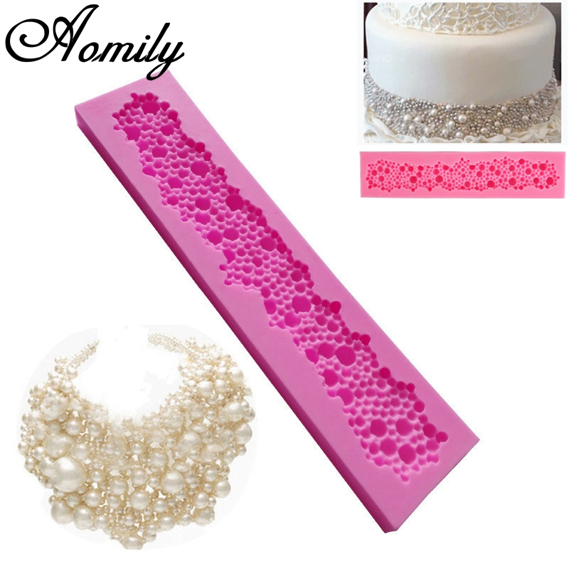 Home & Garden Bakeware Constructive Aomily 3d Pearl Necklace Silicone Pearl Fondant Mould Cake Border Decorating Molds Sugar Icing Gumpaste Kitchen Baking Tools Nourishing The Kidneys Relieving Rheumatism
